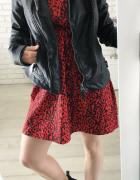 Czerwona sukienka w CĘTKI marki New Look PETITE 32...