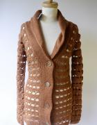 Sweter Ażurowy NOWY Brązowy Brąz S 36 Glamorous...