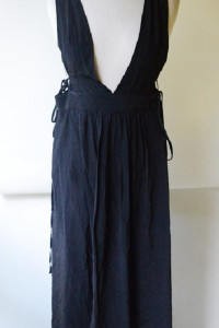 Sukienka Czarna H&M Plażowa XS 34 Wycięcia...