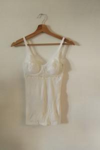 koszulka nina con c bieliźniana na ramiączkach ecru
