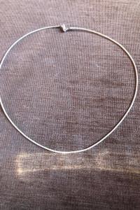 Srebrny naszyjnik żyłka 925