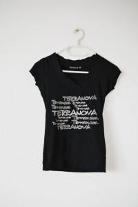 Czarny T shirt Terranova rock emo gothic bluzka koszulka