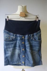 Spódniczka Dzinsowa H&M Mama M 38 Ciążowa Ciąża Jeans...