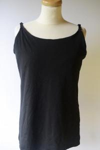 Bluzka Koszulka Czarna KappAhl Motherline 48 50 XL Karmienia