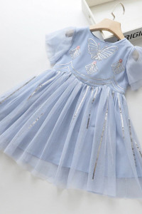 sukienka błękitna motyl