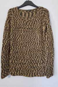 Pleciony sweterek khaki...