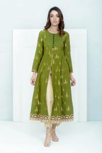 Nowa tunika suknia indyjska S 36 kaftan kurta kameez zielona zł...