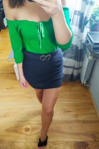 Zielona hiszpanka bluzka S...