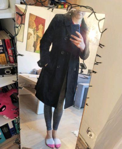Odzież wierzchnia Ciepły płaszcz zimowy do kolan M
