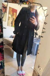 Ciepły płaszcz zimowy do kolan M