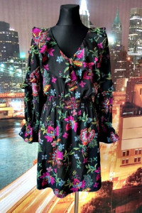 influence sukienka falbanki kwiaty folklor modna hit blog 42...