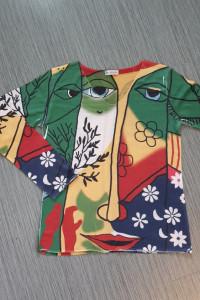 Włoski kolorowy sweter bluzka...