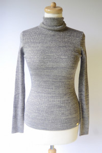 Golf NOWY Szary Srebrna Nitka Lipsy London XL 42 Sweter