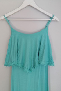 Bawełniana długa sukienka MIĘTA rozmiar S...