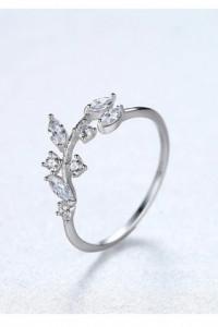 Nowy srebrny pierścionek srebro 925 delikatny białe cyrkonie regulowany dopasowany