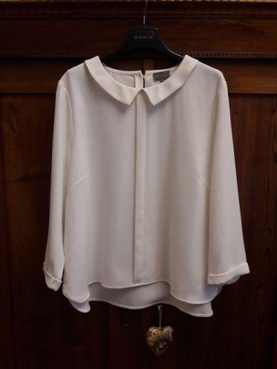 Bluzki Biał eleganka bluzka 44 46 48