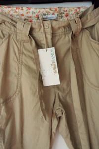 Okazja śliczne spodnieromantyczne bojówki Wanilla Sands...