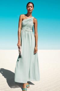 H&M przepiękna sukienka maxi miętowa ideał...