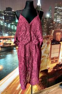 river island sukienka burgund koronka gipiura wyjściowa 40 42...