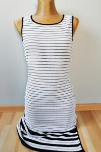 Długa sukienka w paski rozmiar S M