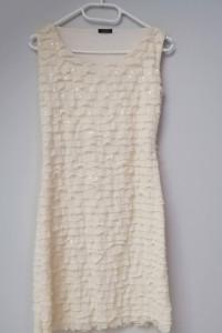 Piękna sukienka ecru rozmiar S M