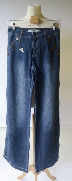 Spodnie Spodnie Jeansowe 27 32 M 38 NOWE Proste Nogawki Simply Loving