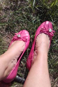 Używane balerinki 37 Mohito różowe...
