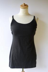 Bluzka Czarna H&M Mama S 36 Koszulka Karmienia