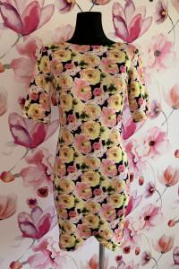 Sukienka ołówkowa modny wzór kwiaty flora hit 36...