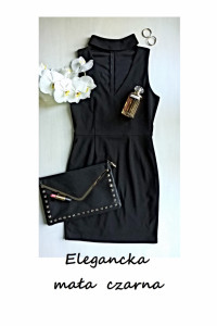 Elegancka mała czarna z hokerem S M...