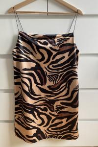 ZARA sukienka w stylu bieliźnianym na ramiączkach M...