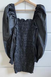 ZARA czarna woskowania sukienka S...