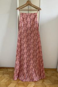 ZARA sukienka maxi na cienkich ramiączkach z nadrukiem w kwiaty M