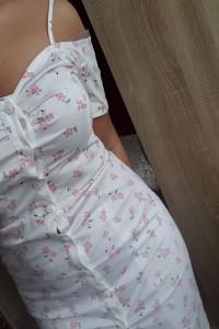 Sukienka biała w kwiaty SM...