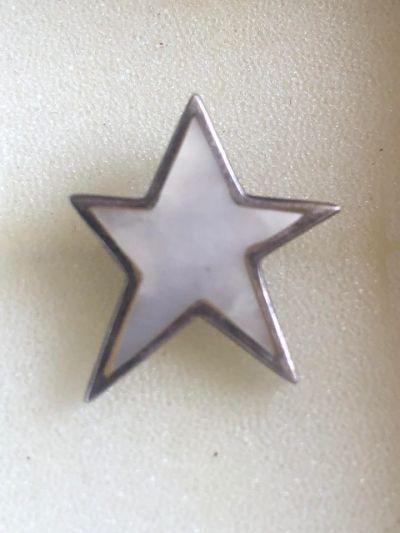 Zawieszki Śliczna zawieszka gwiazda z masą perłową srebro 925