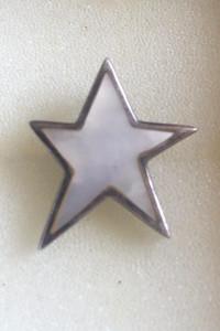 Śliczna zawieszka gwiazda z masą perłową srebro 925