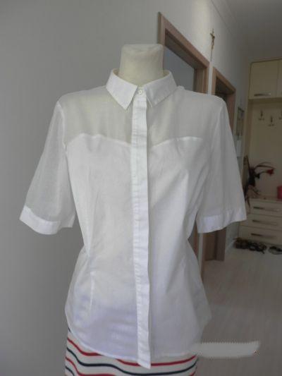 Bluzki Koszula Biała Wizytowa Biurowa Bluzka Marks Spencer 44