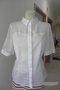 Koszula Biała Wizytowa Biurowa Bluzka Marks Spencer 44
