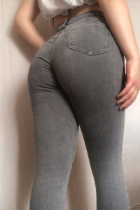 rurki topshop xs s 26 30 szare jeansy...