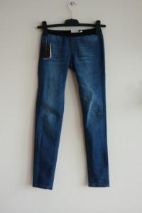 jegginsy jeansy rurki xs mango niebieskie...