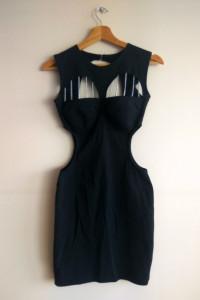 czarna sukienka s xs vintage...