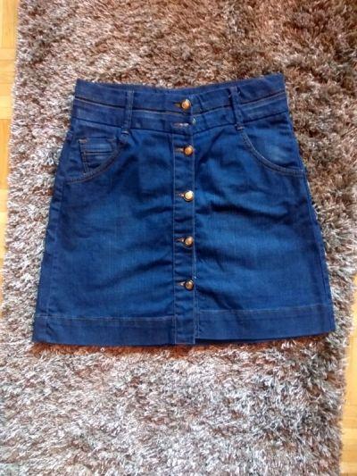 Spódnice mini spódnica zara jeansowa 36 xs s rozkloszowana