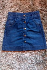 mini spódnica zara jeansowa 36 xs s rozkloszowana...
