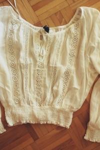 koszula biała bluzka boho hippie H&M xs