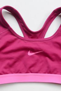Stanik Biustonosz Różowy Nike Dri Fit S 36 Sportowy