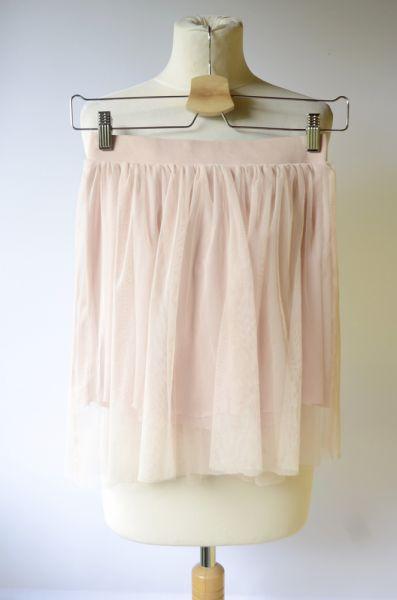 Spódnice Spódniczka Tiul Różowa Pudrowa H&M M 38 Rozkloszowana