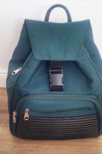 Stylowy plecak khaki must have blogerski mieści a4
