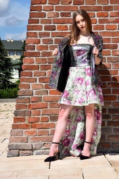 Suknie i sukienki Długa sukienka z gorsetem w cekiny