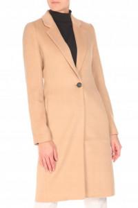 Bezowy klasyczny płaszcz trencz Top Secret wełna