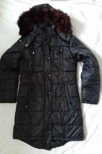 Czarna ciepła kurtka 36 38 Halens